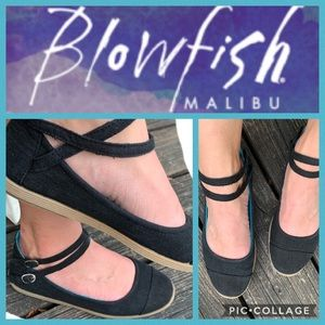 Blowfish Malibu Black Mary Jane Flats